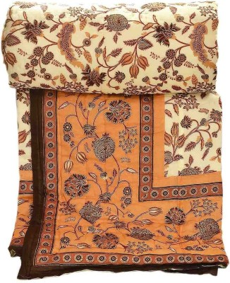 Stole & Yarn Floral Single Quilts & Comforters Brown