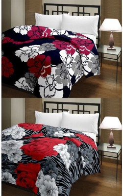 Ayushi Craft & Fashions Abstract Single Blanket Multicolor