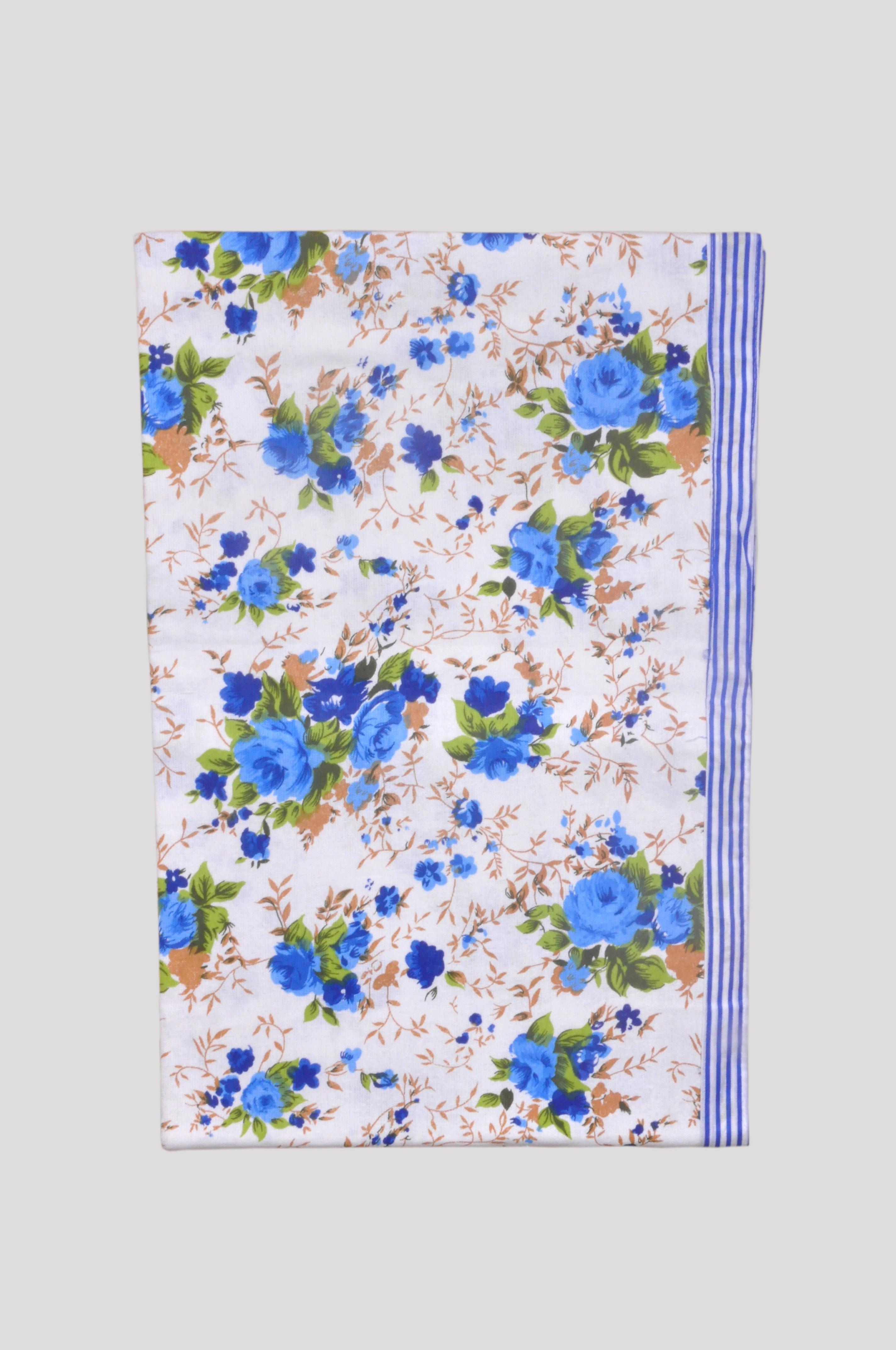 Jass Home Decor Floral Single Blanket Blue(AC Blanket, Set of 1 Blanket)
