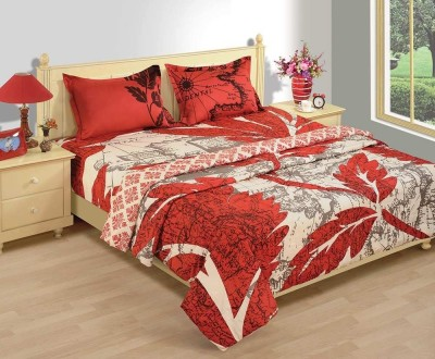 House This Printed Double Quilts & Comforters Red, Beige