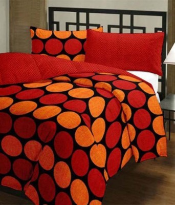 GLOW Polka Single Quilts & Comforters Red