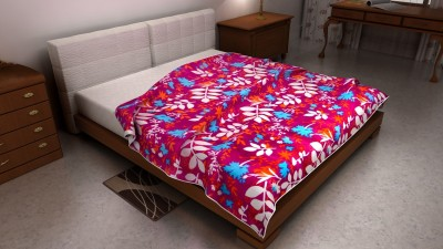The Home Ingredients Floral Double Blanket Purple