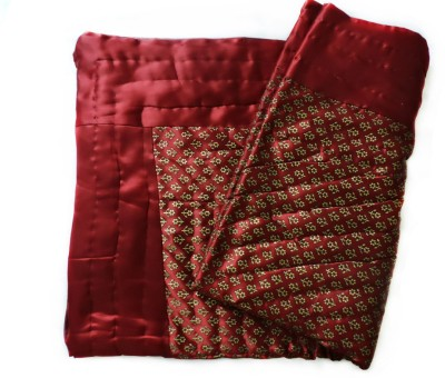 Ramasa Floral Single Quilts & Comforters Maroon