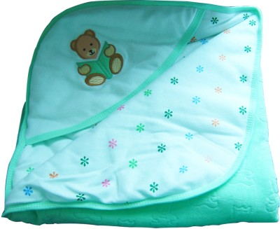 Tiny Care Checkered Single Blanket Green