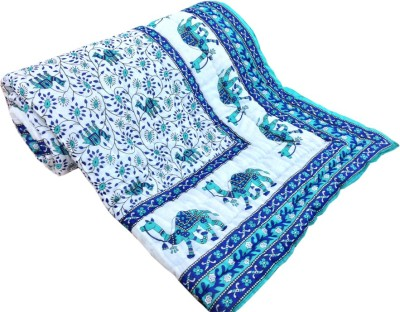 Factorywala Printed Single Quilts & Comforters Blue