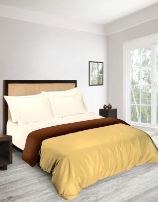 Tangerine Plain Double Quilts & Comforters Beige, Brown