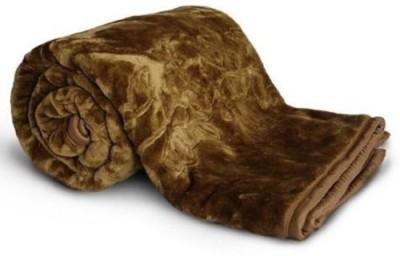 NK Handlooms Plain Single Blanket Gold