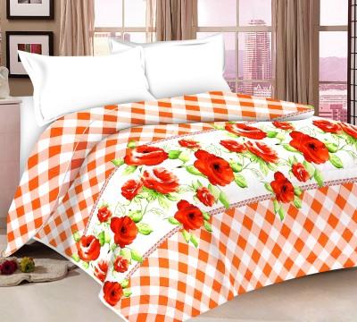 Ridan Floral Double Quilts & Comforters Orange