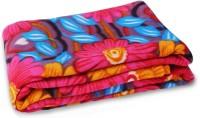 Story@Home Floral Double Blanket Orange(Fleece Blanket, 1 Pc Blanket)