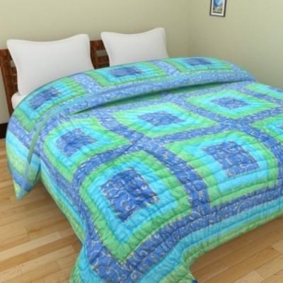 Bigshoponline Geometric Double Quilts & Comforters Blue