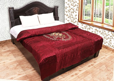 Chelsi Embroidered Double Quilts & Comforters Red
