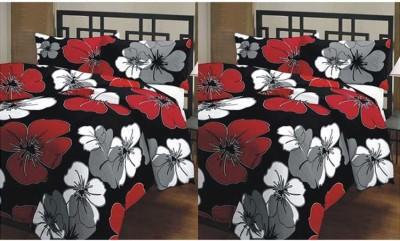 Feel Soft Floral Double Dohar Black