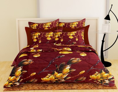 Story@home Floral Double Quilts & Comforters Brown(1 Double Comforter)