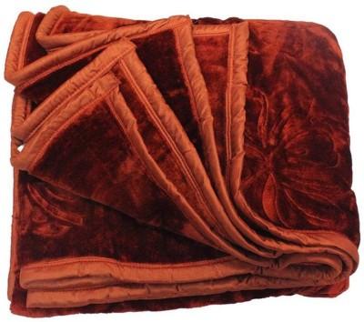 Bigshoponline Plain Double Blanket Orange