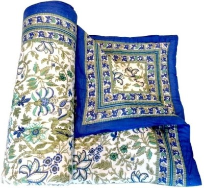 Style and Fashion Floral Single Quilts & Comforters Blue