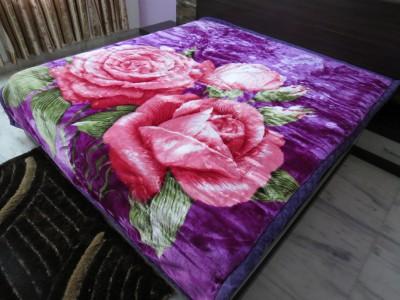 Florida Floral Double Blanket Purple