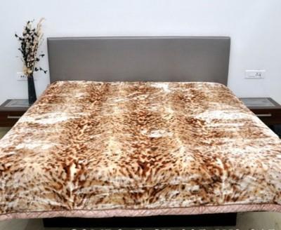 Valtellina Animal Double Blanket Brown