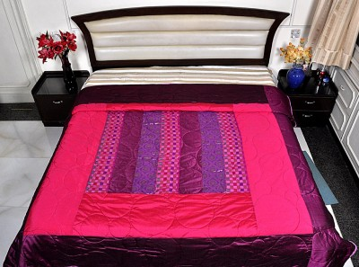 Lal Haveli Abstract Double Quilts & Comforters Pink