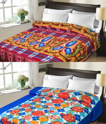 Rangoli Abstract Double Blanket Blue, Red