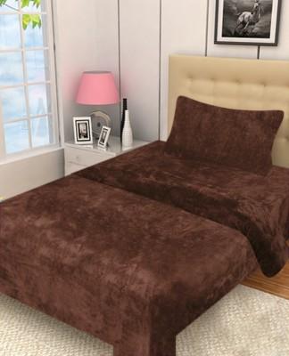 Excel Bazaar Plain Single Blanket Brown