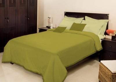 Bombay Dyeing Plain Single Blanket Green