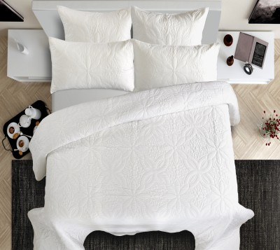 Shahenaz Home Shop Polka King Quilts & Comforters White