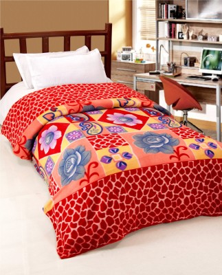Surhome Floral Single Blanket Multicolor