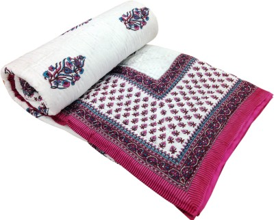 Artisan Creation Floral Double Quilts & Comforters Pink, White