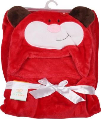 Ole Baby Plain Single Blanket Red