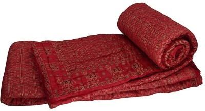 Tradition India Damask Double Quilts & Comforters Maroon