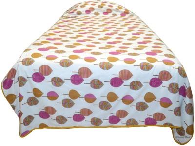 Indian Rack Floral Single Dohar, Quilts & Comforters Dark Pink, Brown