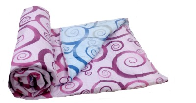STELLAR HOME USA PORTICO Abstract Single Quilts & Comforters Light Blue, Purple