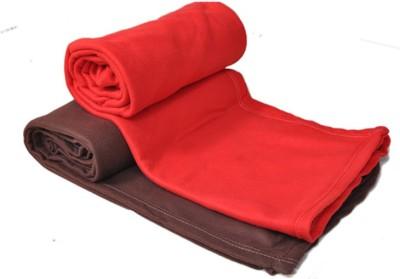 Divine Plain Single Blanket Red, Brown