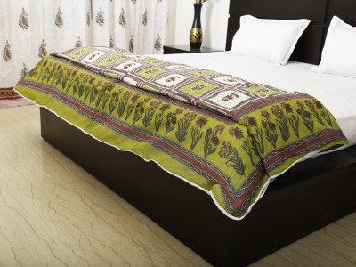 Exkklusiv Rajasthan Floral Double Quilts & Comforters Light Green