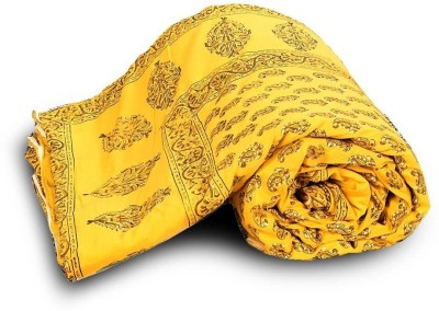 Indigocart Paisley Double Quilts & Comforters Yellow