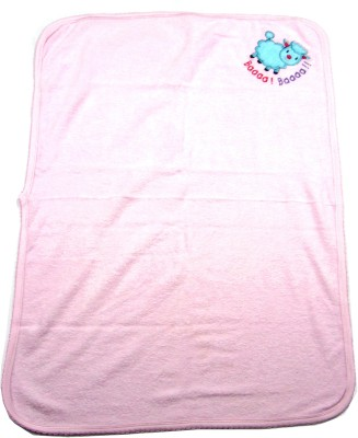 Ahad Plain Single Blanket Pink