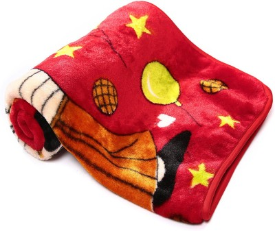 Casa Confort Abstract Single Blanket Red