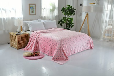Welhouse Polka Double Blanket Pink
