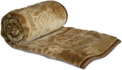 Madhav Blankets Plain Double Blanket Brown