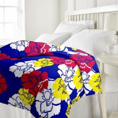 Armaans Floral Double Dohar Blue, Red