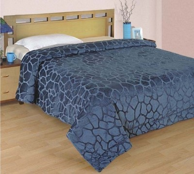 Zyne Abstract Double Quilts & Comforters Blue