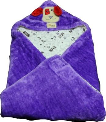 Just Pinto's Self Design Single Blanket Purple