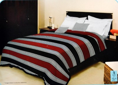 Bombay Dyeing Striped Single Blanket Brown