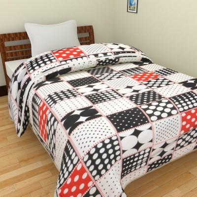 Ridan Polka Single Dohar Black, White, Red