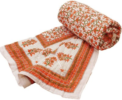 Halowishes Floral Single Quilts & Comforters Orange