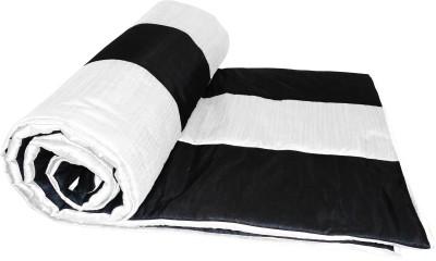 Zikrak Exim Plain Single Quilts & Comforters Black, White