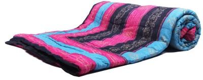 Jaipurtextilehub Striped Single Quilts & Comforters Multicolor