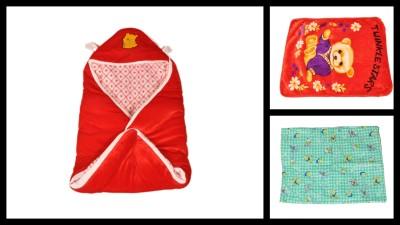 The Chaddar Cartoon Crib Baby Sleep Sack Multicolor