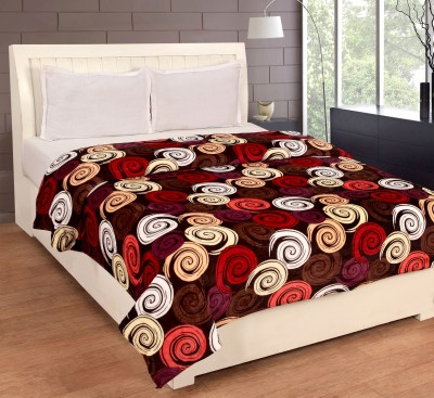 Bed & Bath Floral Double Blanket Brown, Red, White