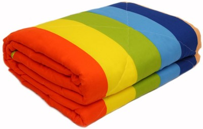 Esoft Striped Double Quilts & Comforters Multicolor